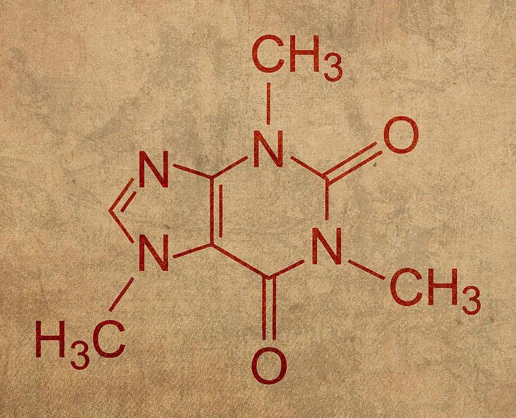 tea caffeine molecule chemistry