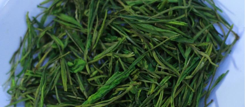 2016 spring green teas - anji bai cha dry leaves