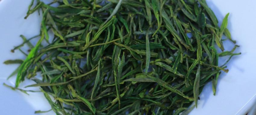 2016 spring green teas - huang shan mao feng dry leaves