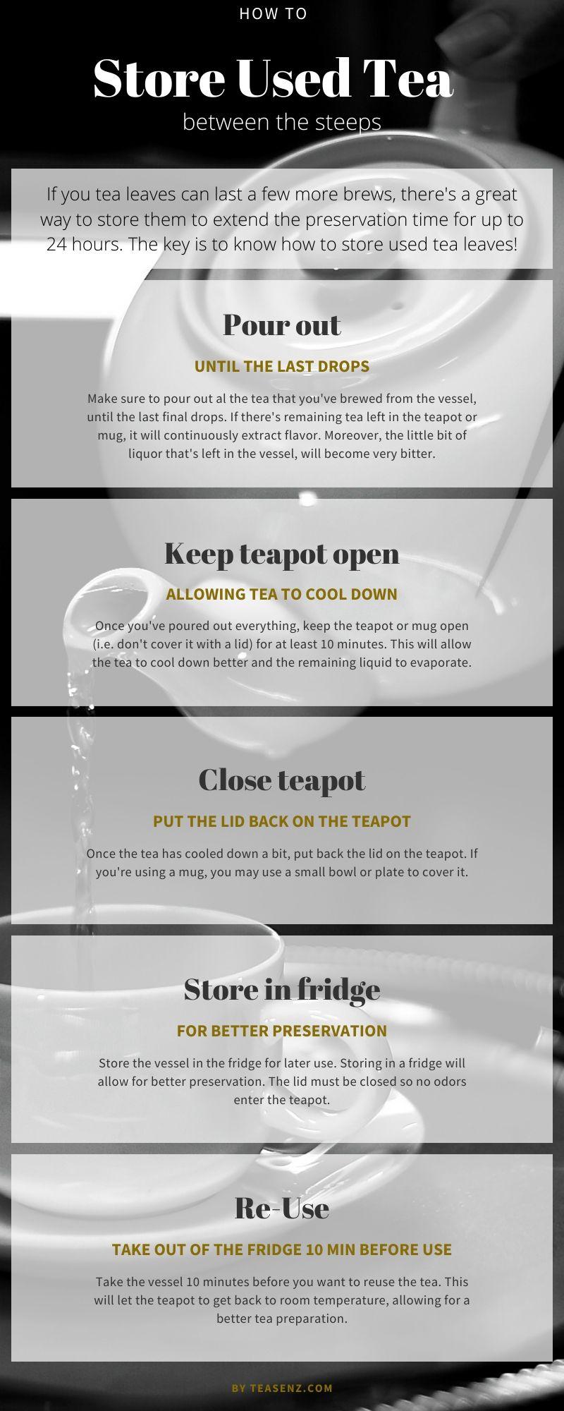 how to store tea leaves between steeps to reuse loose tea