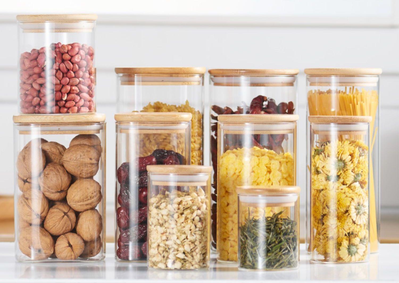 glass jar loose leaf storage