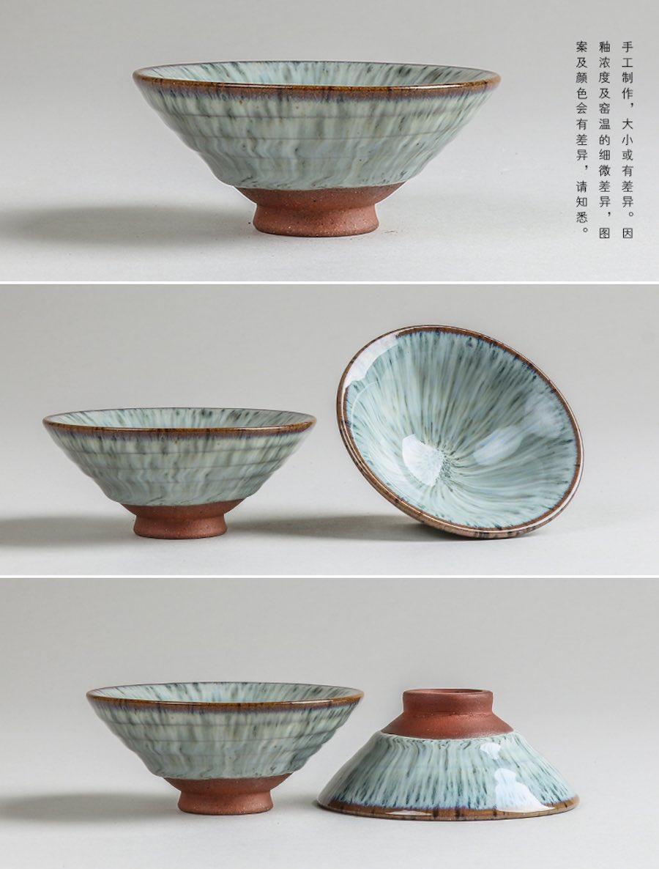 white glazed ceramic tea cup ancient snow