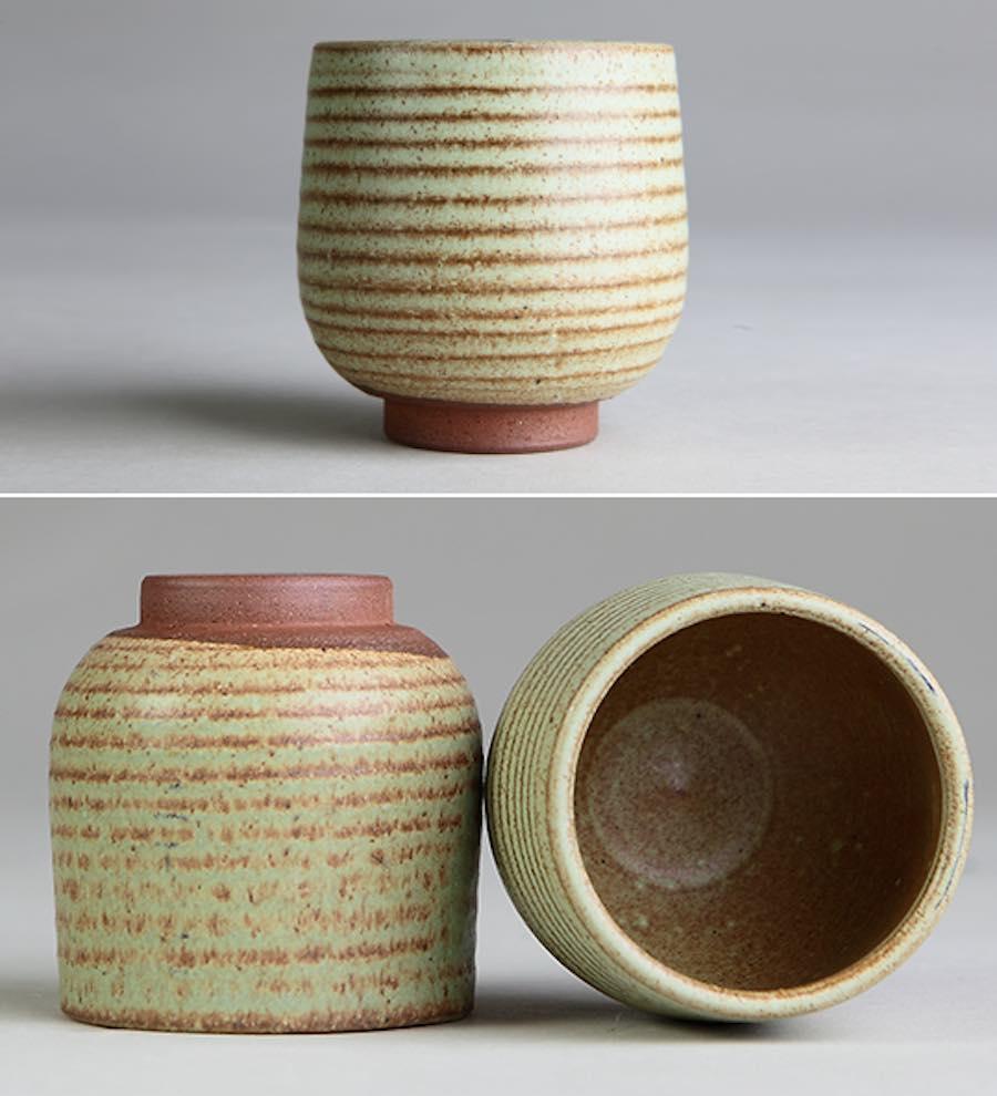 ceramic tea cup spiral